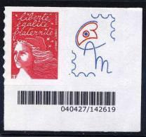"""TVP  Marianne De  LUQUET RF    - Logo  Privé  """"  Cercle Des Amis De Marianne  """" Avec Coin De Feuille N° (3346) - Personalized Stamps"""