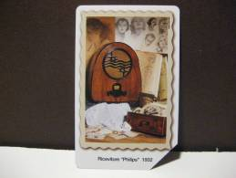 394 Ex 1892 GOLDEN EURO - 80 ANNI DI RADIO RADIO PHILIPS - USATA PERFETTA QUALITA´ FIOR DI STAMPA - G - Public Advertising