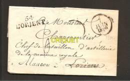 Pli Avec Cachets Des 7 Et 9 Juin 1829, Cachet Lorient 54 - Storia Postale