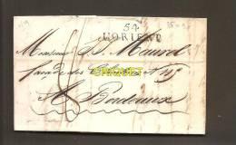Pli De 1819, Cachet Lorient 54 - Marcophilie (Lettres)