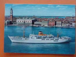 """E1-ITA-adriatica-societe De Navigation -venise-paquebots-""""san Marco-san Giorgio""""-munis De Stabilisateur-- - Italy"""