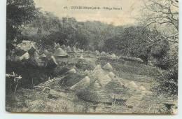 GUINEE FRANCAISE  - Village Bassari.(carte Vendue En L'état) - Guinée Française