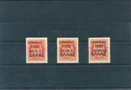 "1923-Greece- "" ´EPANASTASIS 1922´ Overprint"" Issue (on 1910 Cretan State Postage Due Stamps) -half Set MH - Nuevos"