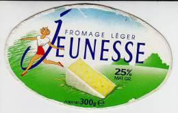 -Etiquette Fromage Léger Jeunesse - 300g - 25% - - Quesos