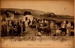 CPA Bizerte Tunisie  Le Marché Aux Bestiaux   (ca 670) - Tunisie