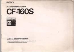 Libro De Instrucciones RADIOCASSETTE SONY - Planes Técnicos
