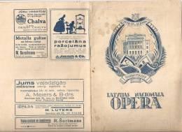 Latvia - OldLatvian National Opera Programm 1936 - 1937 - 36 Pages - Rare Program - Programs