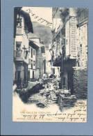 ESPANA PRINCIPADO ASTURIAS UNA CALLE DE CUDILLERO. Old Postcard 1900s, Lavadeiras - Serie A. Num .3 Fot. Villegas - Asturias (Oviedo)