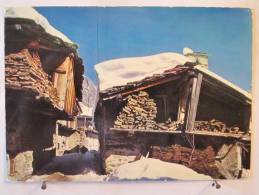 Alpes - Le Village Sous La Neige - à Situer - Scan Recto-verso - Provence-Alpes-Côte D'Azur