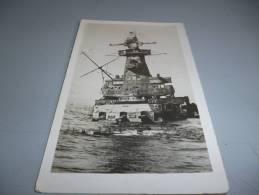 CARTE  PHOTO DU GRAF SPEE ENTRAIN DE COULER - War 1939-45