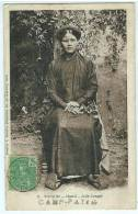 NUI- DEO (Viet Nam): PLAN TOP SUR UNE JOLIE CONGAÎ, RARE CARTE OBL. DU CAMP- PATIN Et NUI-DEO En 1905 - Indochine (1889-1945)