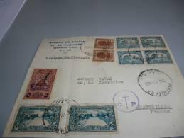 LETTRE DU LIBAN DU 26 JUILLET 45  AVEC CACHET CONTROLE CP 2 CROIX DE LORRAINE - Old Paper