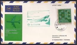 FIRST FLIGHT - Lufthansa LH 553 Kinshasa-Frankfurt - 03 Nov 1971 - FDC