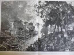 Fétes Du 14 Juillet , Féte Vénitienne Du Bois De Boulogne , Gravure Et Dessin De Lepére 1881 - Documenti Storici