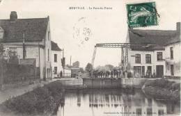 MERVILLE LE PONT DE PIERRE ANIME 59 NORD - Merville