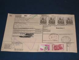 Schweiz Swiss Switzerland Paket Karte Paketkarte 1977 43,10 Fr. Genf - Ronneburg DDR Suisse Svizzera Zoll - Switzerland