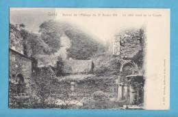 GAND-GENT -ruines De L´abbaye De St-Bavon VIII -non Circulée -le Cote Nord De La Crypte  -(scan Recto-verso) - Gent