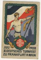 Deutsches Reich Ganzsache gebraucht / Deutsches Turnfest 1908 Festpostkart No. 2