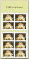 """BC3805 FR2005 Carnet.timbres De Naissances.""""C´est Un Garçon""""(nouveau-né Sur Un Lotus) - Francia"""