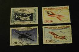 France C29-32 Aircraft Airplanes Mystere IV Nafatlas Miles Magister Provence Used 1954 A04s - Airmail