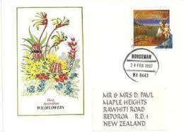 Lettre De L´Ile Christmas Adressée En Nouvelle-Zelande - Christmas Island