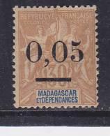 MADAGASCAR N° 52 0.05 S 30C TYPE ALLÉGORIQUE NEUF AVEC CHARNIERE - Madagascar (1889-1960)
