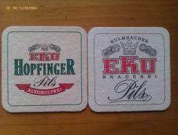 Lote 2 Posavasos Cerveza Eku. Alemania. - Sous-bocks
