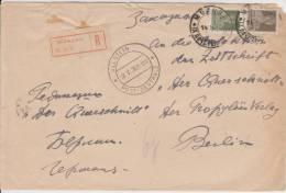 U Russia Russie Russland Mi. 249 + 254 Auf Portogerechten R-Brief Von Moskau Nach Berlin Ullstein-Verlag - Storia Postale