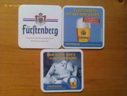 Lote 3 Posavasos Cerveza Furstenberg. Alemania. - Sous-bocks