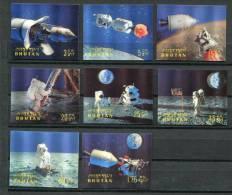 BHUTAN  Set Of 8 3D Stamps Space Astronautics Weltraum Raumfahrt Mint  (A027) - Bhutan