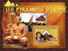 gu0750c Guinea 2007 ART Pyramids of Egypt s/s Ship Pyramide de Myk�rinos apoleon Bonapart