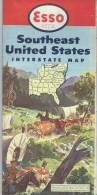 USA/Soustheast United States /Interstate Map /  ESSO/1952        PGC9 - Roadmaps