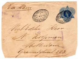 Surinam - 12.5c Cover 1905 - Amsterda Nederl: Paketboot Postmark - Suriname