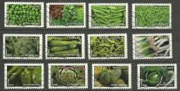 France 2012  Série Légumes Pour Une Lettre Verte  12 TP X 0,57€  Oblitérés - Oblitérés
