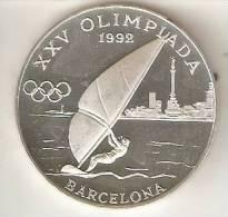 MONEDA DE PLATA DE ANDORRA DE 20 DINERS AÑO 1989 DE LAS OLIMPIADAS DE BARCELONA 1992 (VELA) SILVER-ARGENT - Andorra