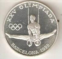 MONEDA DE PLATA DE ANDORRA DE 20 DINERS AÑO 1990 DE LAS OLIMPIADAS DE BARCELONA 1992 (AROS) SILVER-ARGENT - Andorre