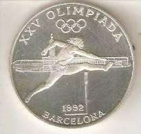 MONEDA DE PLATA DE ANDORRA DE 20 DINERS AÑO 1990 DE LAS OLIMPIADAS DE BARCELONA 1992 (ATLETISMO) SILVER-ARGENT - Andorre