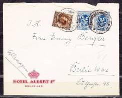Brief, MiF Wappenloewe U.a., Stempel: Hotel Albert Bruxelles Bruessel, Nach Berlin 1935 (38456) - Belgien