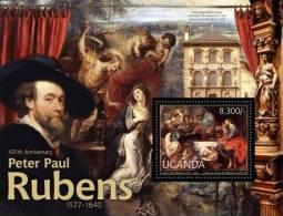 ugn12204b Uganda 2012 Peter Paul Rubens Painting s/s