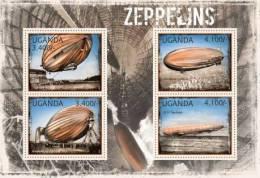 UGN12310a Uganda 2012 Zeppelins s/s LZ-127 LZ-17