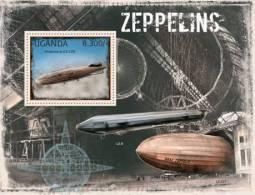 UGN12310b Uganda 2012 Zeppelins s/s Hindenburg LZ-129