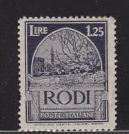 RODI 1932 - SERIE PITTORICA CON FILIGRANA 1,25 LIRE NUOVO MNH** - Aegean (Rodi)