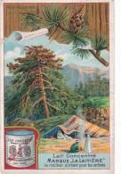 Chromo Pour La Laitière (Milchmädchen), Néstle & Anglo Swiss, Cham, Bois De Cédre - Cromo