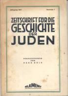 ZEITSCHRIFT FUR DIE GESCHICHTE DER JUDEN HERAUSGEGEBEN VON HUGO GOLD VI - JAHRGANG 1969 - Bücher, Zeitschriften, Comics