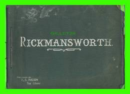 RICKMANSWORTH, ENGLAND - ALBUM OF 12 PICTURES 20X14 Cm - PUBLISHED BY E. S. BROWN, THE LIBRARY - - Hertfordshire