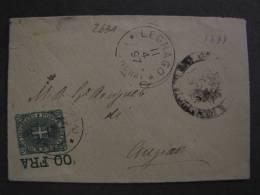 """ITALIA Regno -1891-96-""""Stemma"""" C. 5 LEGNAGO>ANGIARI (descrizione) - 1878-00 Umberto I"""