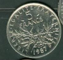 5 FRANCS SEMEUSE 1987 - Pieb 5504 - France