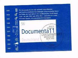 Deutschland Block 58 Documenta 2257 2002 Berlin Zentrum Erstausgabe - [7] Federal Republic