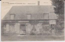 1911.  La Chapelle Gauthier. Commerçe Café Restaurant . Maison Jouenne - France