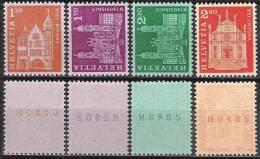 Bauten 1963: Zu 391-394RM.01 Mi 764-767R ** MNH (4 Werte = CHF 44.50 Katalog) - Rouleaux